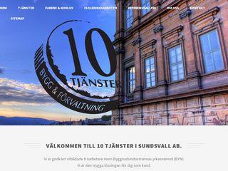 Earlier screenshot of 10bygg.se
