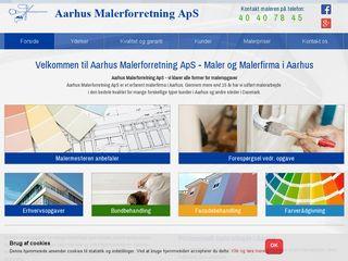 Earlier screenshot of aarhusmalerforretning.dk