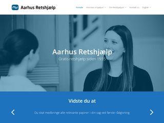 Earlier screenshot of aarhusretshjaelp.dk