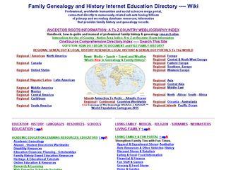 Earlier screenshot of academic-genealogy.com