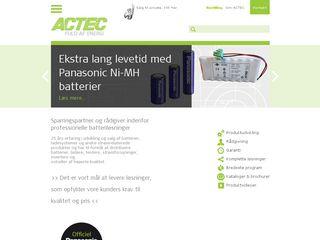Earlier screenshot of actec.dk