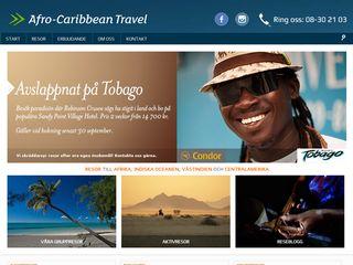 Earlier screenshot of afro-caribbean.se