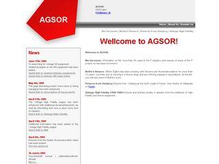 Earlier screenshot of agsor.dk