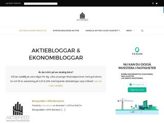 Earlier screenshot of aktiefeed.se