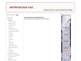 Earlier screenshot of aktieskolan.se