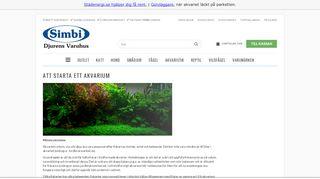 Earlier screenshot of akvarieguiden.nu