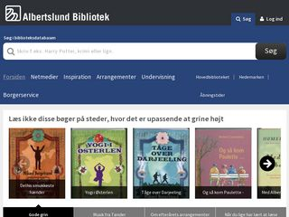 Earlier screenshot of albertslundbibliotek.dk