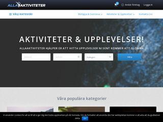 Earlier screenshot of allaaktiviteter.se