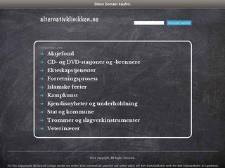 Earlier screenshot of alternativklinikken.no