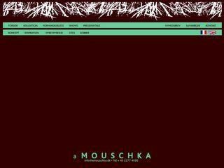 Earlier screenshot of amouschka.dk