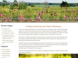 Earlier screenshot of andligutveckling.se