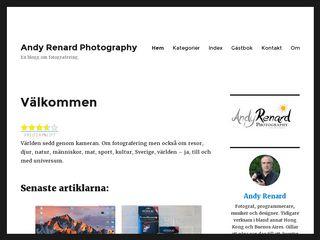 Earlier screenshot of andyrenard.se