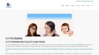 Earlier screenshot of anettesallservice.se