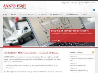 Earlier screenshot of ankerhost.dk