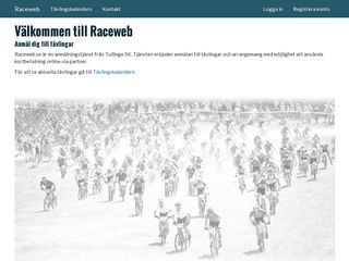 Earlier screenshot of anmalan.raceweb.se