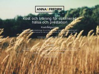 Earlier screenshot of annafredrik.se