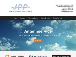 Earlier screenshot of antennservice.net