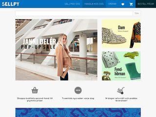 Earlier screenshot of app.sellpy.se