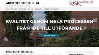 Earlier screenshot of arkitektstockholm.biz