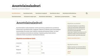 asuntolainalaskuri.fi