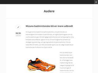 Earlier screenshot of audere.dk