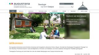 Earlier screenshot of augustana.de