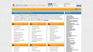 Preview of backlinkaanmelden.nl