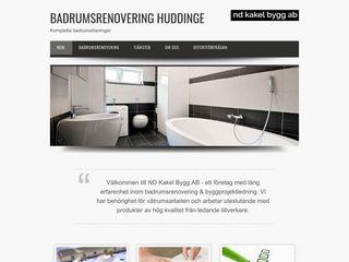 Earlier screenshot of badrumsrenoveringhuddinge.se