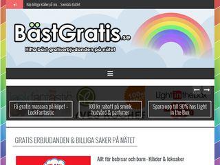 Earlier screenshot of bastgratis.se