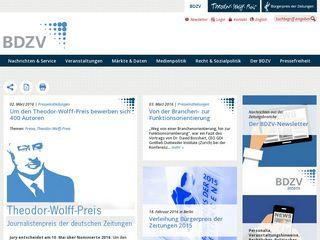 Earlier screenshot of bdzv.de