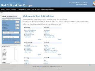 Earlier screenshot of bedandbreakfast.dk