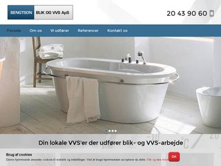 Earlier screenshot of bengtson-blik-vvs.dk