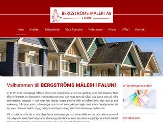Earlier screenshot of bergstromsmalerifalun.se