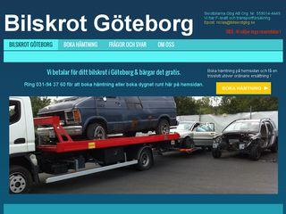 Earlier screenshot of bilskrotgbg.se