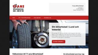 Earlier screenshot of bilverkstadlund.nu