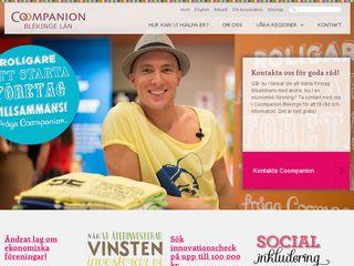 Earlier screenshot of blekinge.coompanion.se