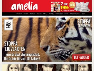 Earlier screenshot of blogg.amelia.se