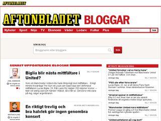 Earlier screenshot of bloggar.aftonbladet.se