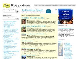 Earlier screenshot of bloggportalen.se