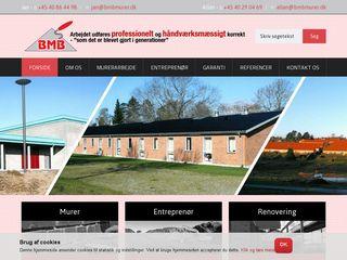 Earlier screenshot of bmbmurer.dk
