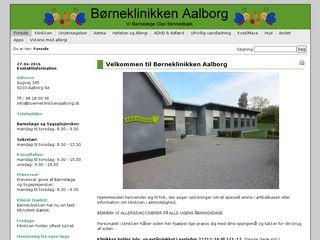 Earlier screenshot of boerneklinikkenaalborg.dk