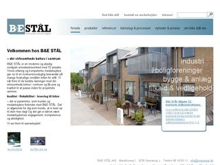 Earlier screenshot of bogestaal.dk