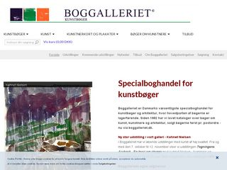 Earlier screenshot of boggalleriet.dk