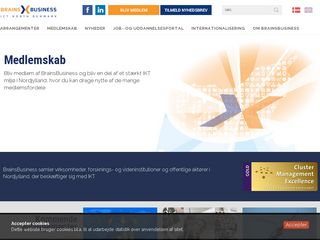 Earlier screenshot of brainsbusiness.dk