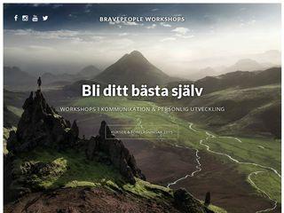 Earlier screenshot of bravepeople.se