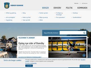 Earlier screenshot of brondby.dk
