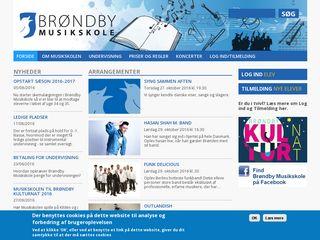 Earlier screenshot of brondbymusikskole.dk
