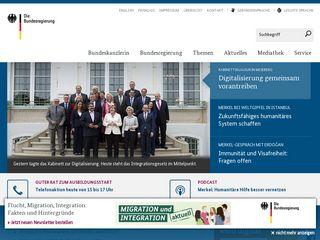 Earlier screenshot of bundesregierung.de