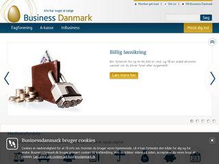 Earlier screenshot of businessdanmark.dk