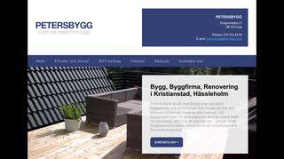 Earlier screenshot of byggfirmakristianstad.se